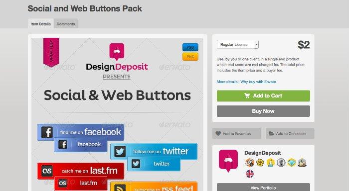10 boutons sociaux pour votre blog WordPress