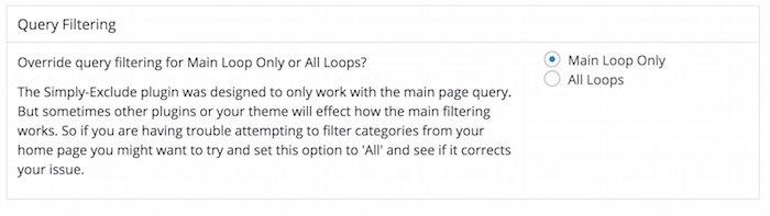 Masquer les messages et les catégories avec Simply Exclude