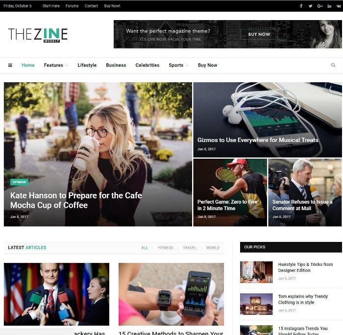 """Meilleurs thèmes WordPress style """"Magazine"""" pour votre blog"""