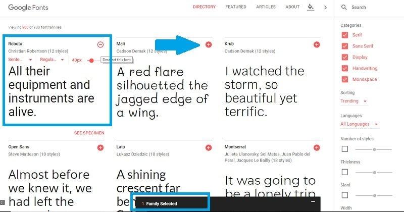Comment utiliser les polices Google sur WordPress