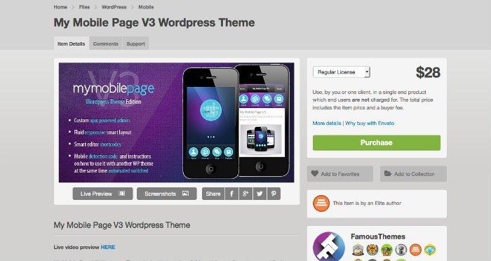 5 modèles mobiles pour votre site web ou blog en WordPress
