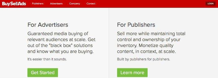 Comment faire de l'argent avec un blog en utilisant BuySellAds