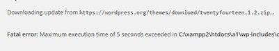 """Correction de l'erreur """"Maximum Execution Time Exceeded"""" sur WordPress"""