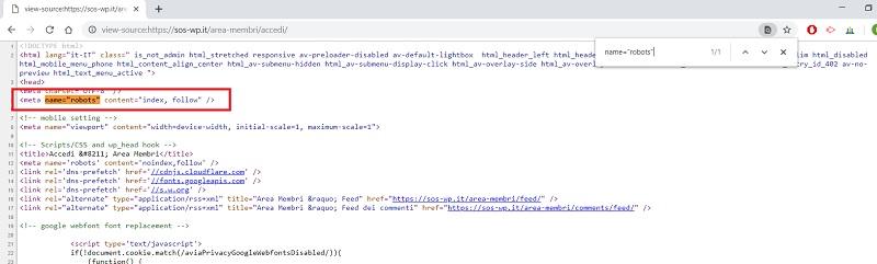 """Erreur """"Votre page d'accueil ne peut pas être indexée par les moteurs de recherche""""."""