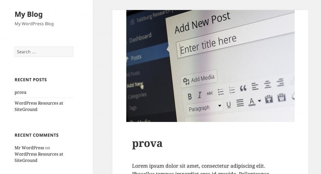 Examen du thème Vingt-cinq pour WordPress