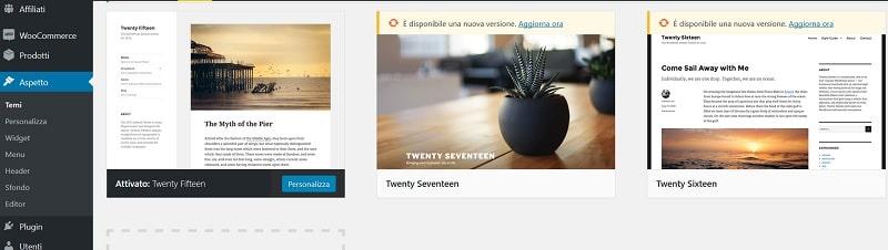 Installer un thème sur WordPress
