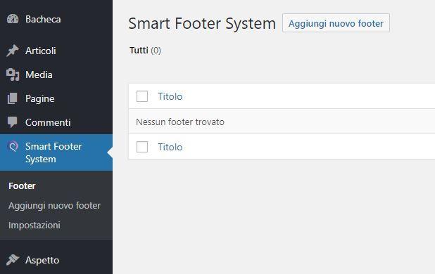 Révision du plugin Smart Footer System